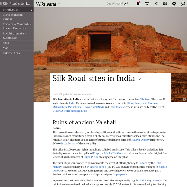 Silk Road sites in India | Wikiwand