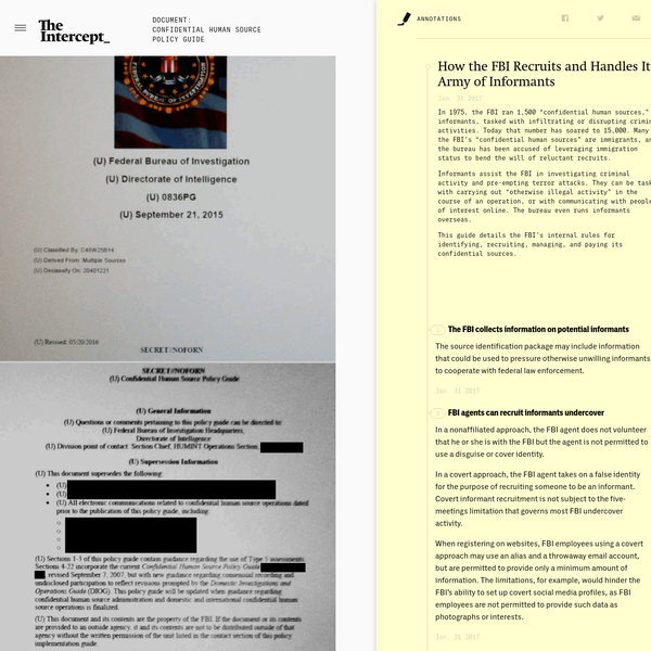 Confidential Human Source Policy Guide - The Intercept