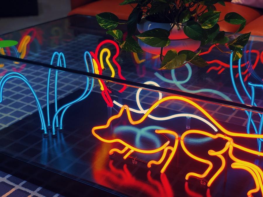 Neon coffee table