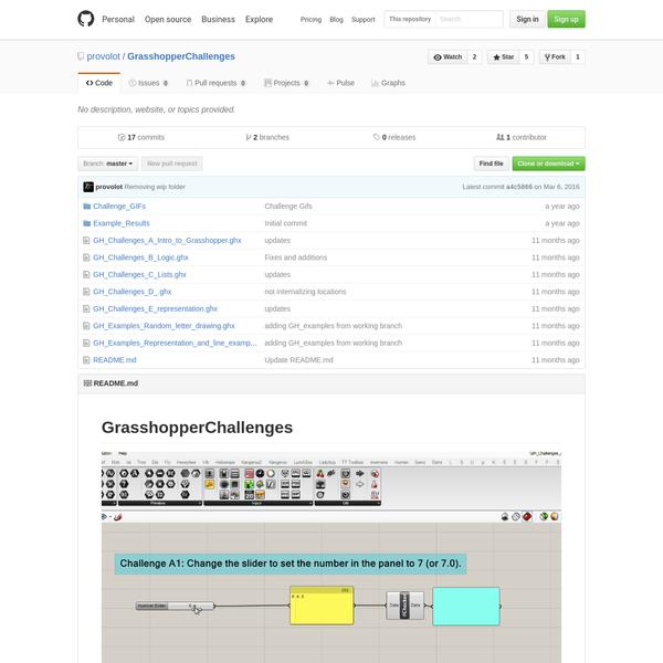provolot/GrasshopperChallenges