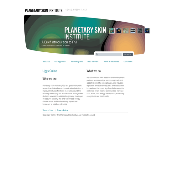 Home page | Planetary Skin Institute