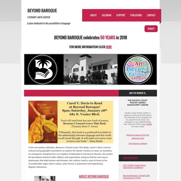 Beyond Baroque Homepage