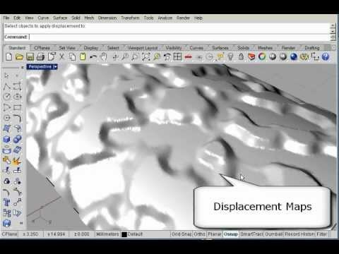 New in Rhino 5.0 Displacement Maps