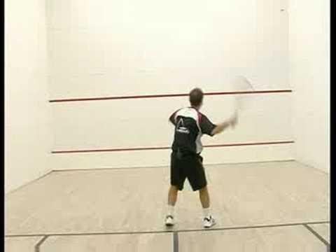 Basic Squash Drills : Squash Butterfly Volley