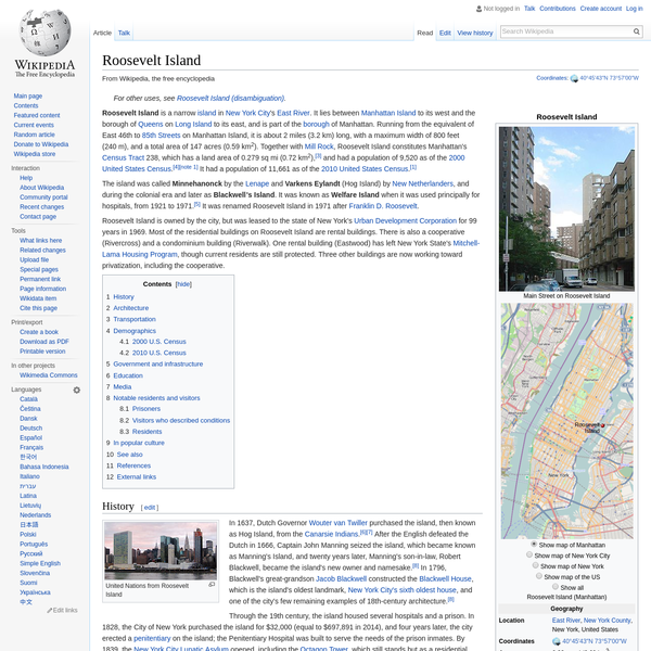 Roosevelt Island - Wikipedia
