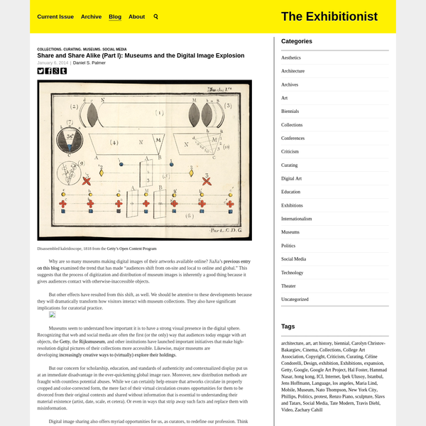 Share and Share Alike (Part I): Museums and the Digital Image Explosion   The Exhibitionist