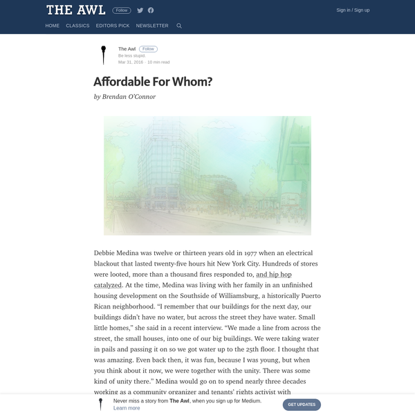 Affordable For Whom?