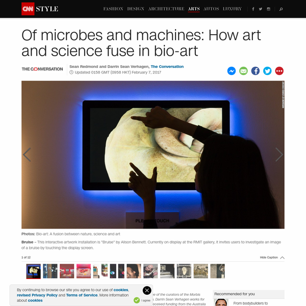 There is art in science -- the artistic precision of the scalpel, the cool aesthetics of the laboratory, and the intimate observations undertaken by scientists to discover new materials and microbes living unseen in the world. Bio-art, an artistic genre that took hold in the 1980s, solidifies, extends and enriches this organic relationship.