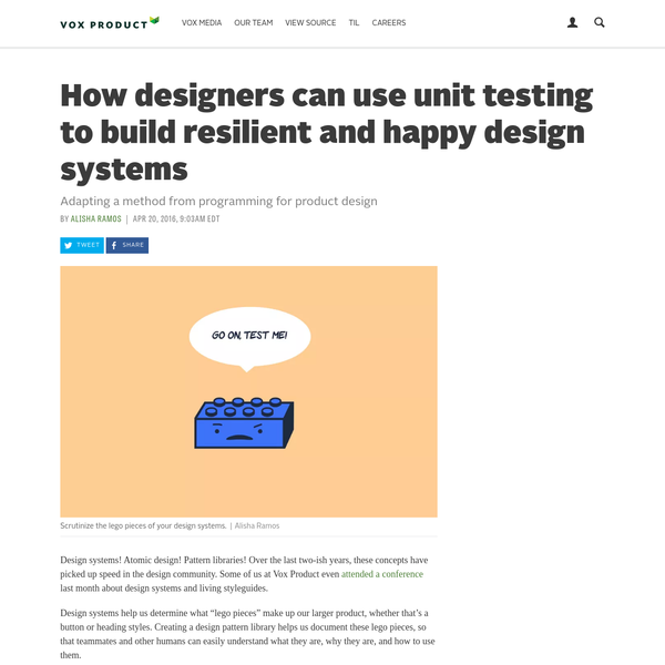 Adapting a method from programming for product design