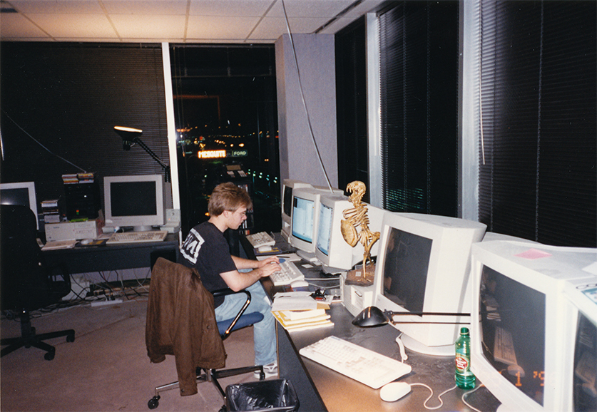 John Carmack at id Software in 1995