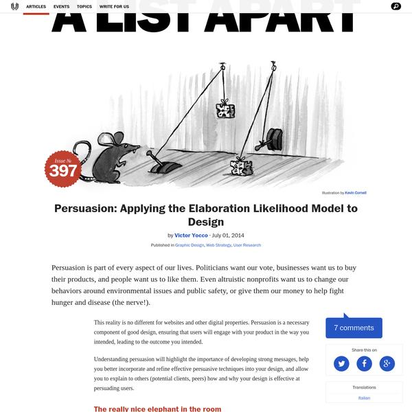 Persuasion: Applying the Elaboration Likelihood Model to Design