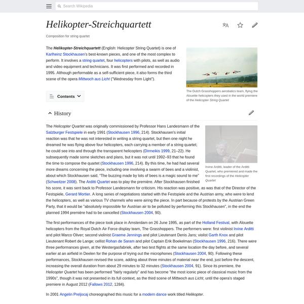 Helikopter-Streichquartett - Wikipedia