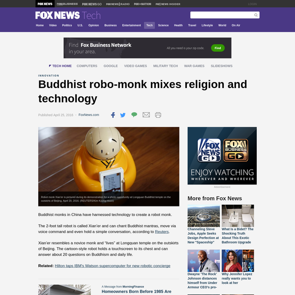 Buddhist robo-monk mixes religion and technology