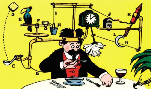 Rube Goldberg Illustration