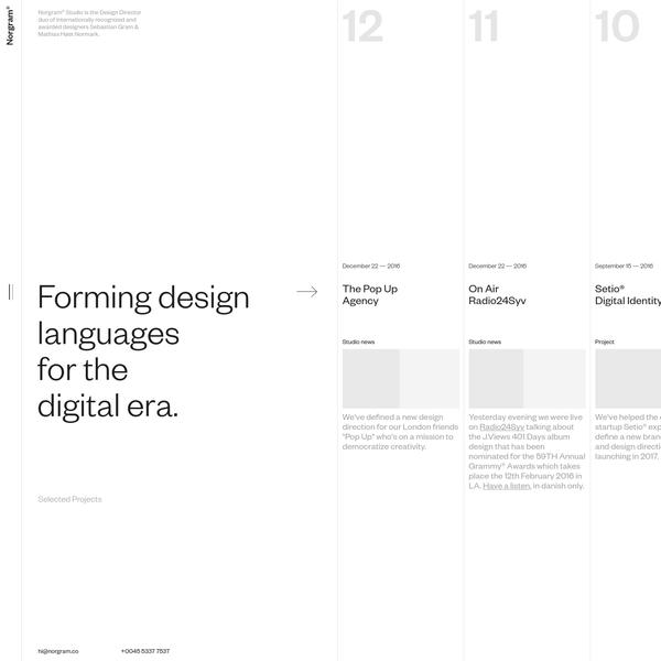 We are the Design Director duo of internationally recognized and awarded designers Sebastian Gram & Mathias Høst Normark.