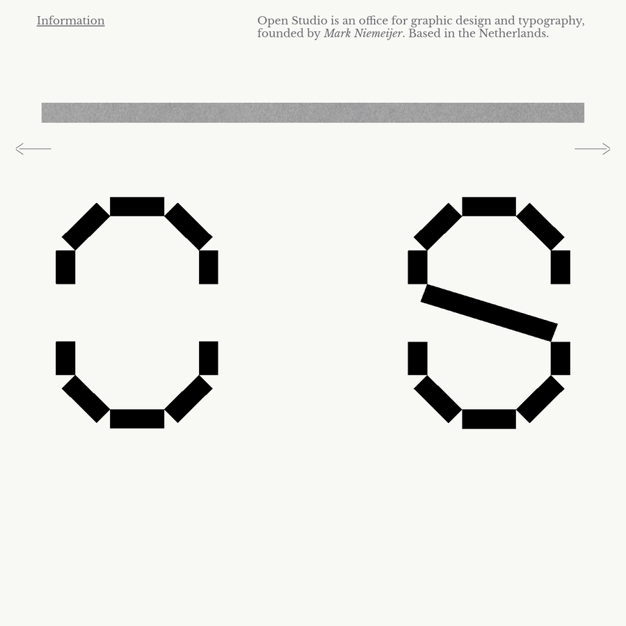 Open Studio is an office for graphic design and typography.