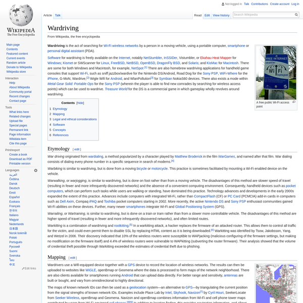 Software for wardriving is freely available on the Internet, notably NetStumbler, InSSIDer, Vistumbler, or Ekahau Heat Mapper for Windows; Kismet or SWScanner for Linux, FreeBSD, NetBSD, OpenBSD, DragonFly BSD, and Solaris; and KisMac for Macintosh.