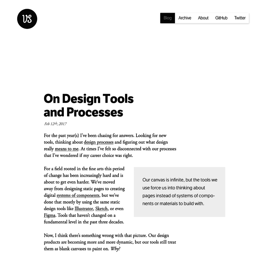 For the past year(s) I've been chasing for answers. Looking for new tools, thinking about design processes and figuring out what design really means to me. At times I've felt so disconnec...