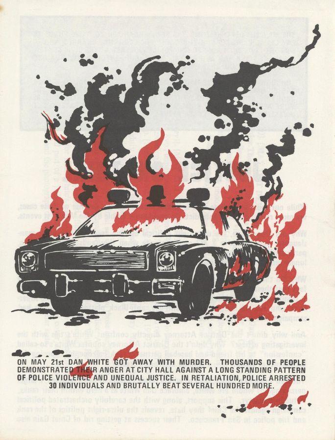White Night Riots leaflet