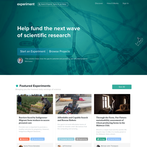Crowdfunding Platform for Scientific Research