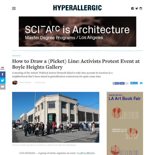 How to Draw a (Picket) Line: Activists Protest Event at Boyle Heights Gallery