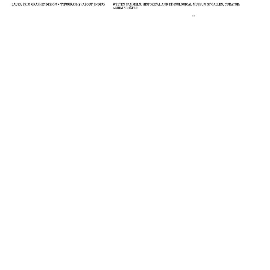 Laura Prim Typografie - DAS STUDIO KONZIPIERT UND REALISIERT PROJEKTE IN DEN BEREICHEN CORPORATE DESIGN, WEB DESIGN, BRANDING SOWIE BUCH- UND PLAKATGESTALTUNG.