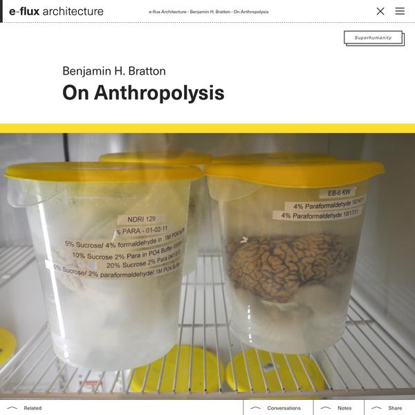 On Anthropolysis - e-flux Architecture - e-flux