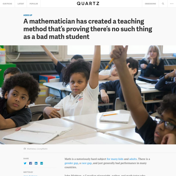 Math is a notoriously hard subject for many kids and adults. There is a gender gap, a race gap, and just generally bad performance in many countries. John Mighton, a Canadian playwright, author, and math tutor who struggled with math himself, has designed a teaching program that has some of the worst-performing math students performing well and actually enjoying math....