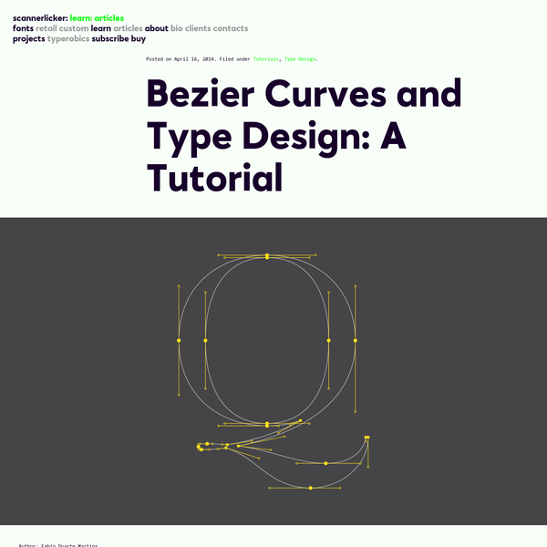 Bezier Curves and Type Design: A Tutorial   Learn - Scannerlicker!