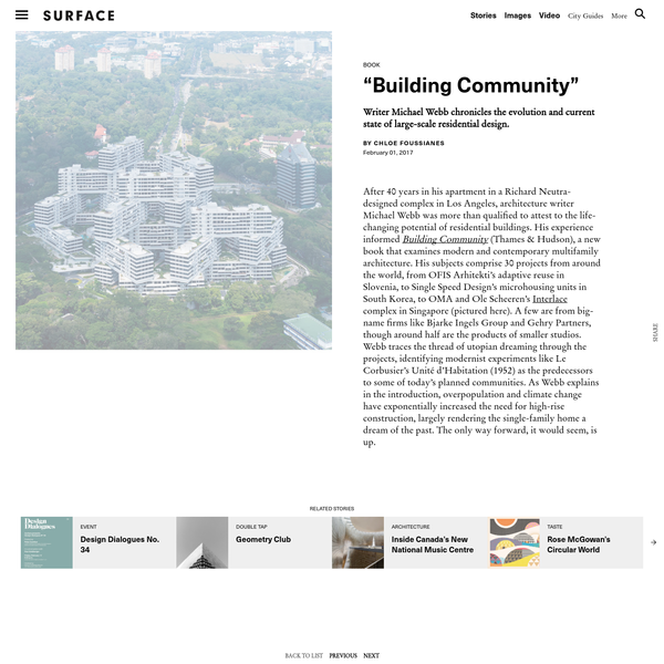 """""""Building Community: New Apartment Architecture"""" - SURFACE"""