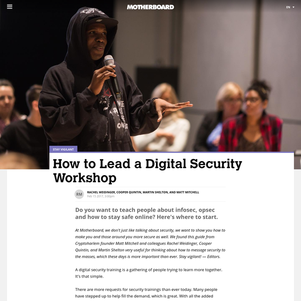How to Lead a Digital Security Workshop - Motherboard