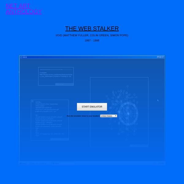 Webstalker   Net Art Anthology