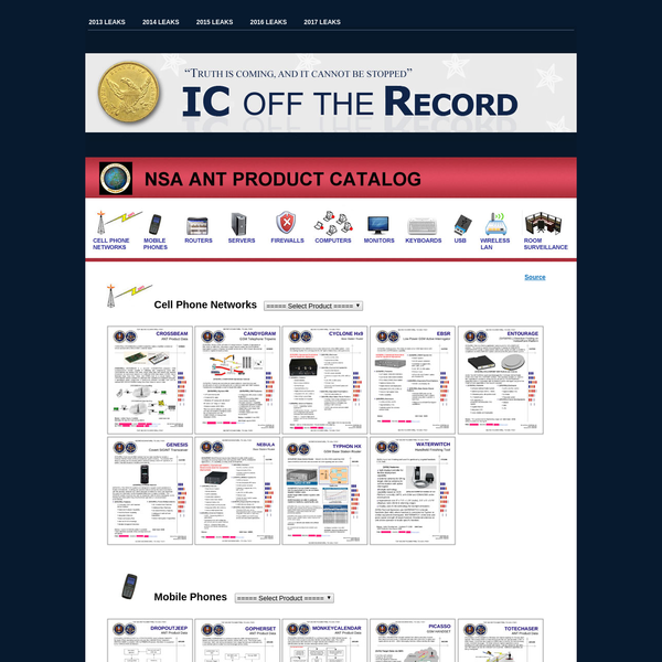 NSA Ant Product Catalog - IC OFF THE RECORD