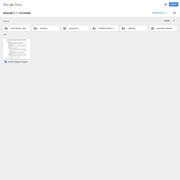 educate / / / re-create - Google Drive