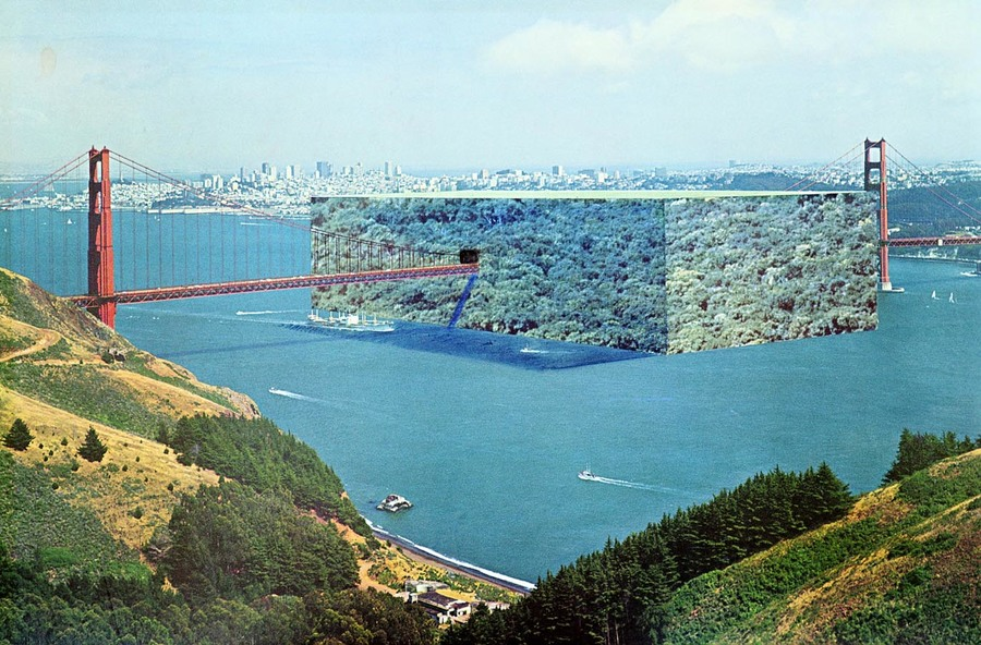 Superstudio, A Cube Forest on the Golden Gate (1972)
