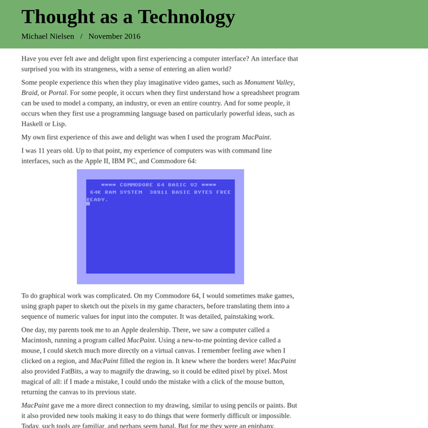 Thought as a Technology