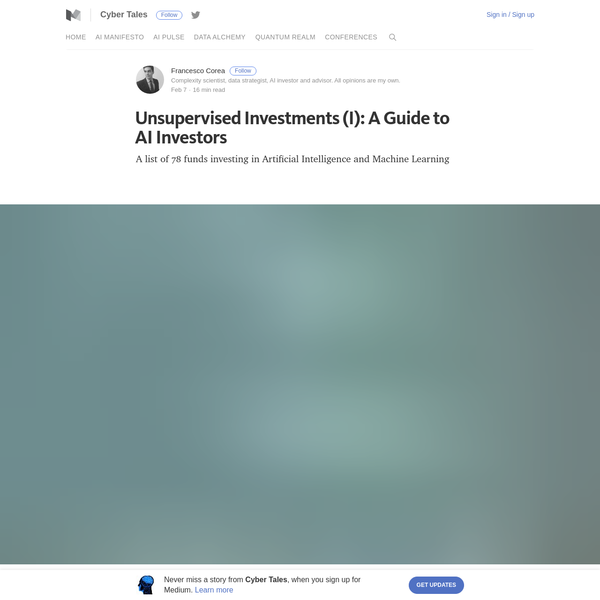 Unsupervised Investments (I): A Guide to AI Investors - Cyber Tales