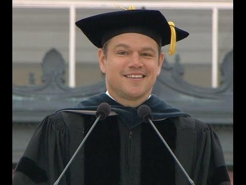MIT Commencement Speaker Matt Damon
