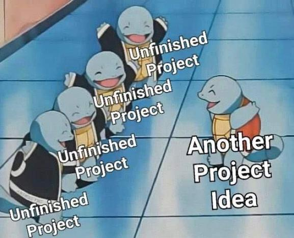 Squirtle Side Project Meme