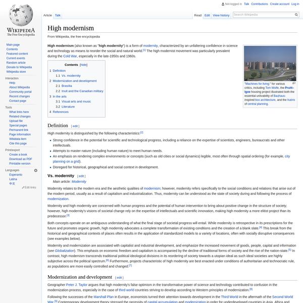 High modernism - Wikipedia