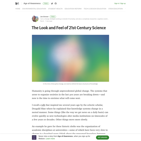 The Look and Feel of 21st Century Science - Age of Awareness