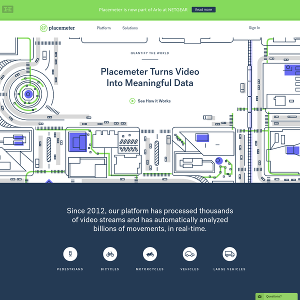 Placemeter is an open urban intelligence platform. Create your account to automatically quantify pedestrian and vehicular movement for a selected area: streets, parks, stores, and much more.