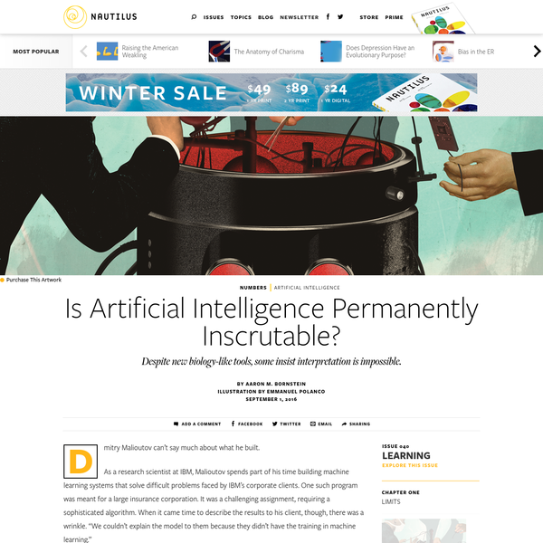 Is Artificial Intelligence Permanently Inscrutable? - Issue 40: Learning - Nautilus