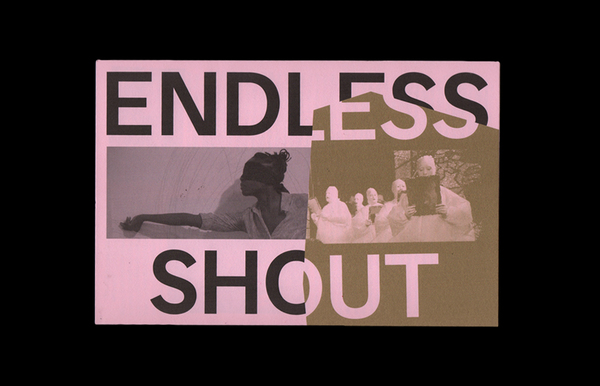 Schedule/poster for Endless Shout, a programming series organized by the Institute of Contemporary Art Philadelphia. Done with Other Means.