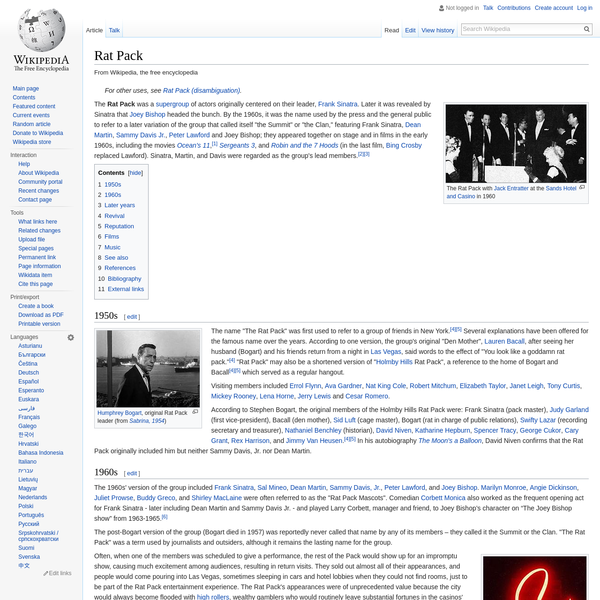 Rat Pack - Wikipedia