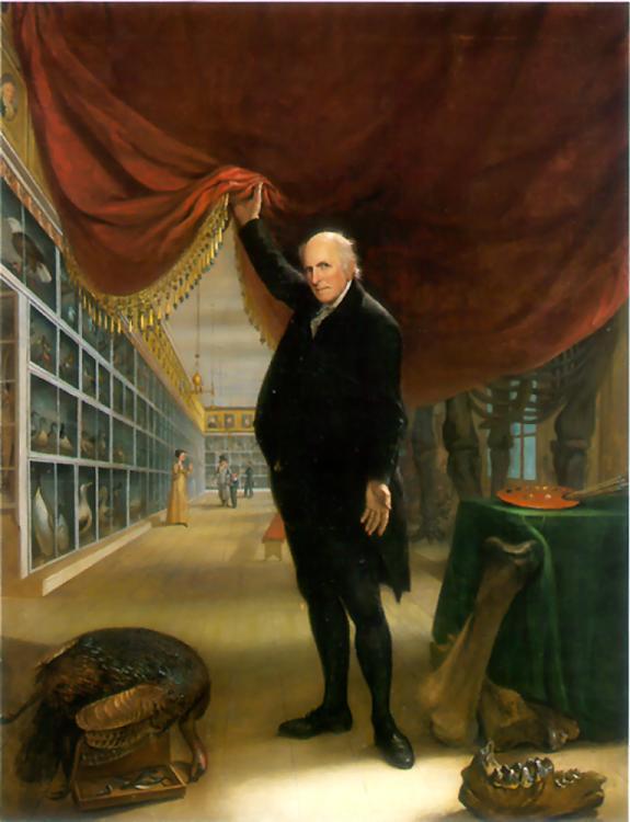 Charles Wilson Peale, The Artist in His Museum (1822)