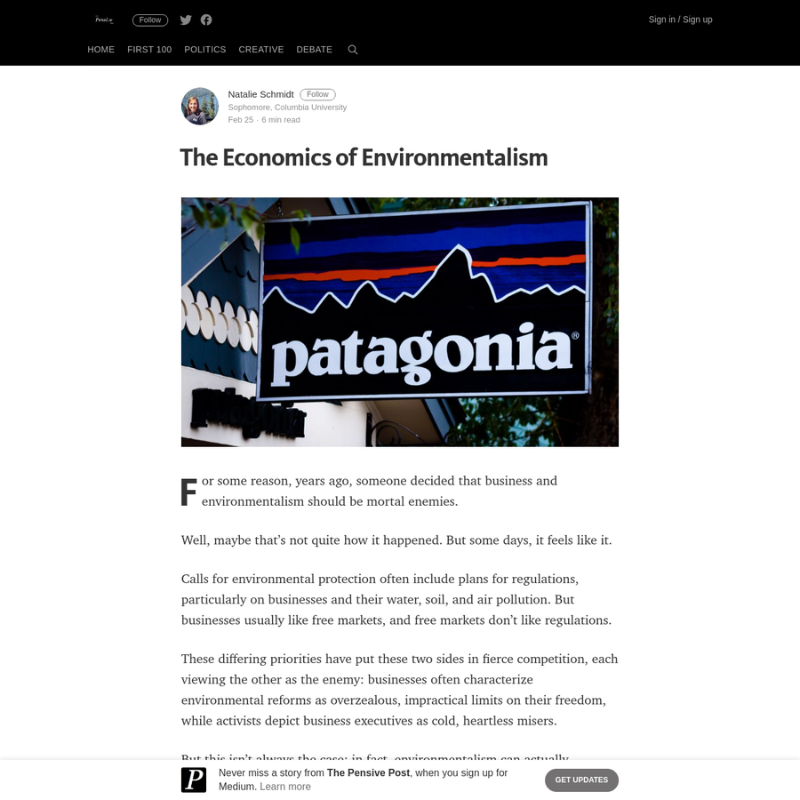 For some reason, years ago, someone decided that business and environmentalism should be mortal enemies. Well, maybe that's not quite how it happened. But some days, it feels like it. Calls for environmental protection often include plans for regulations, particularly on businesses and their water, soil, and air pollution.