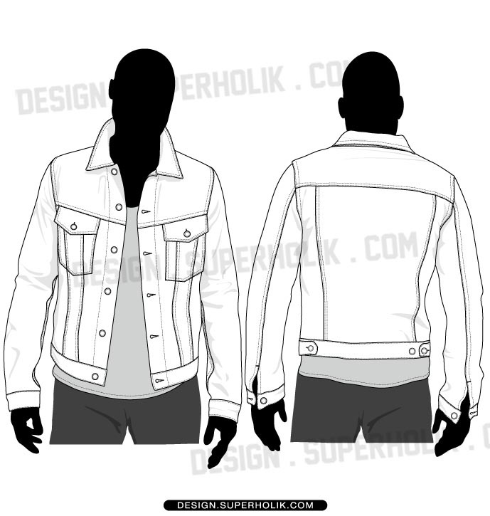 are na denim jacket template lloxov clipart jpg
