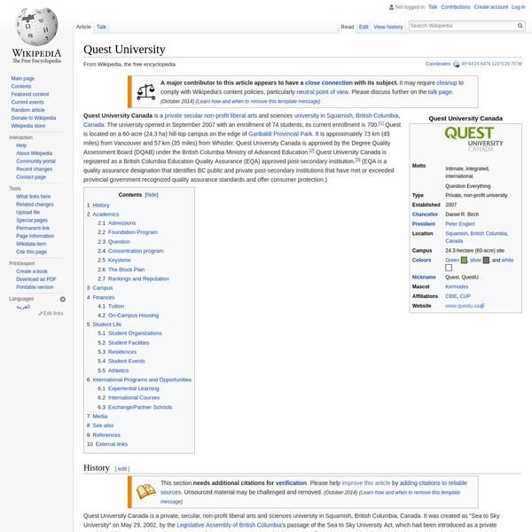 Quest University - Wikipedia