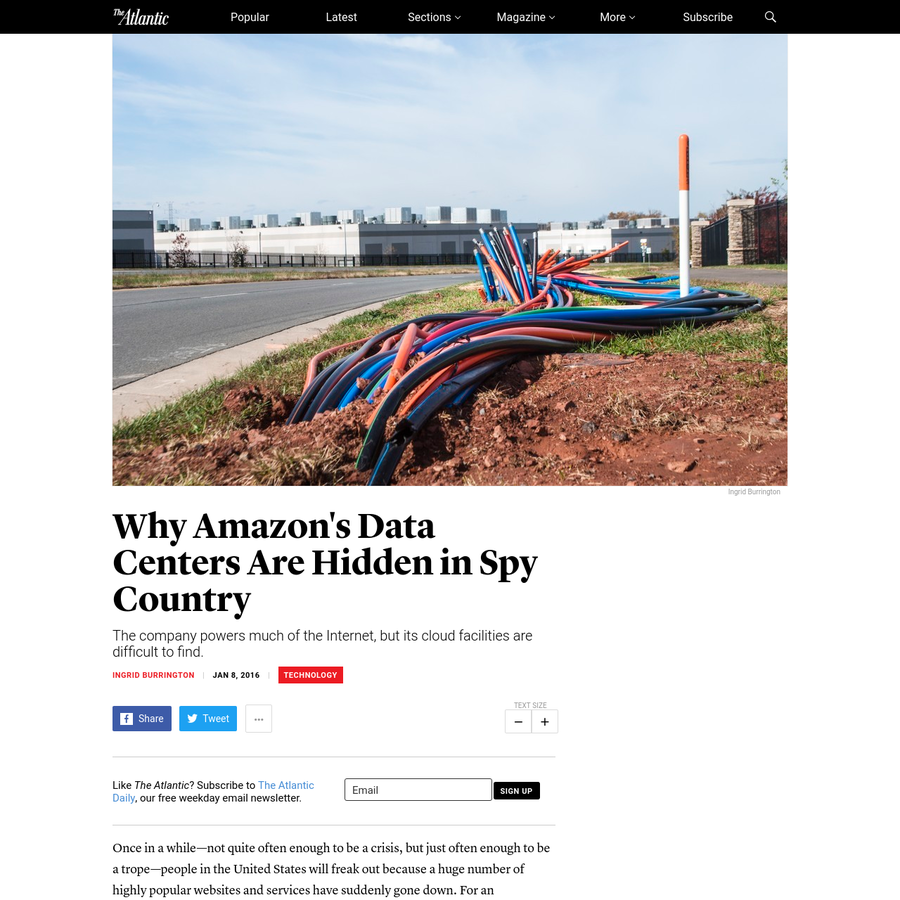 The company powers much of the Internet, but its cloud facilities are difficult to find. Once in a while-not quite often enough to be a crisis, but just often enough to be a trope-people in the United States will freak out because a huge number of highly popular websites and services have suddenly gone down.